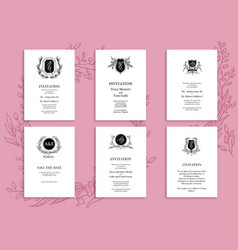 pink wedding concept vector image