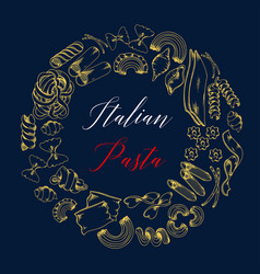poster for pasta or italian cuisine menu vector image