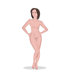 pretty naked woman vector image