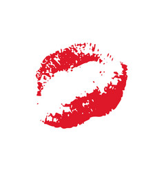 Print of red lips vector