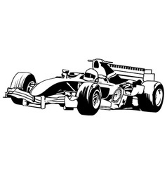 Racing Car Formula One vector