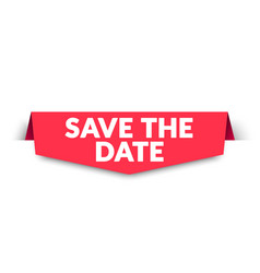save date label vector image