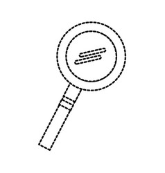 school magnifier glass research science study vector image
