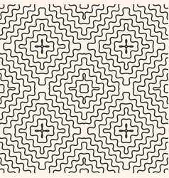 seamless pattern with rounded wavy lines vector image