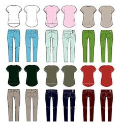 set womens clothes vector image