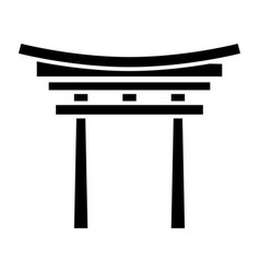 shinto icon black sign on vector image