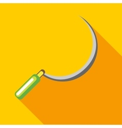 Sickle icon in flat style vector