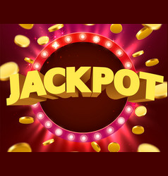 signboard with lamps border for lottery casino vector image