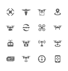 Simple Drone Icons vector