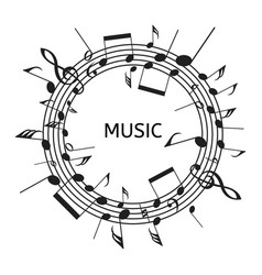 staves and music notes vector image