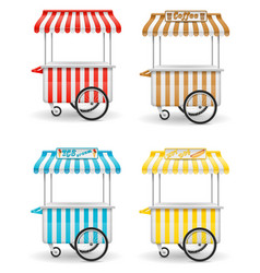 street food cart vector image