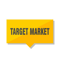 target market price tag vector image