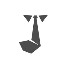Tie icon solid logo vector