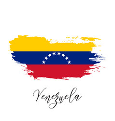 Venezuela watercolor national country flag icon vector