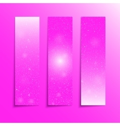 Vertical PinkRectangle Banners Snow Winter vector image