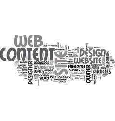 Web design content procurement text word cloud vector