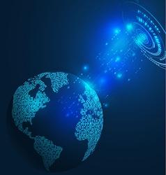 World futuristic communication and technology vector