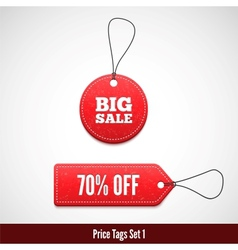 3D Price tags set one vector image