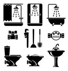 bathroom equipment vector image vector image