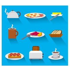 breakfast icon set vector image vector image
