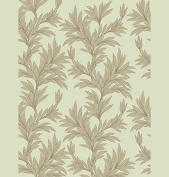 floral leaves seamless background nature vector image vector image