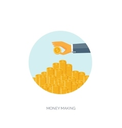 Money making Flat background vector image