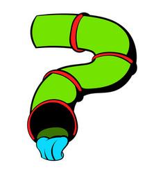 water slide icon icon cartoon vector image vector image