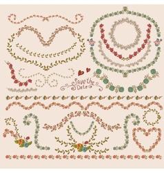 Floral Laurels Ribbons Wreaths vector image