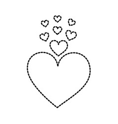 heart love romance passion decoration vector image vector image