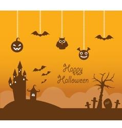 Orange halloween background vector image vector image