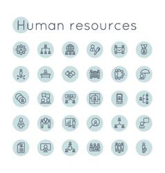 Round hr icons vector