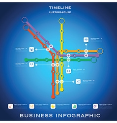 Route timeline business infographic background vector