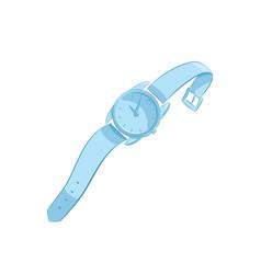 women or men wristwatch classic design elegant vector image