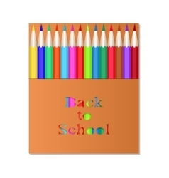 Box of colored pencils Back to School vector image vector image