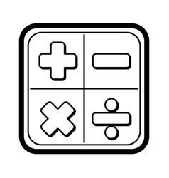 calculator math application icon vector image vector image