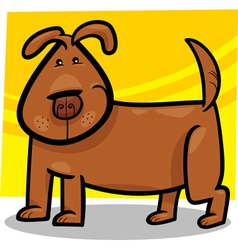 cartoon doodle of cute dog vector image vector image