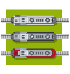 electric locomotive of railways top view from vector image vector image