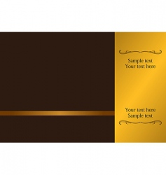 luxury card or invitation vector image vector image