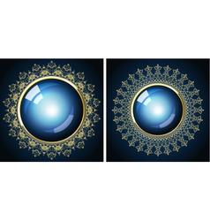 two golden frames vector image vector image