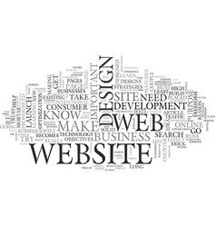 web design extreme makeover text word cloud vector image vector image