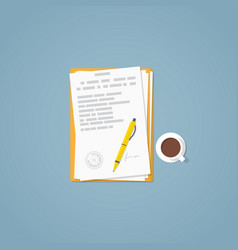 flat paper document vector image vector image