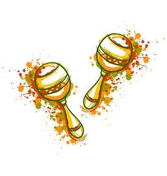 mexican maracas fiesta party vector image vector image