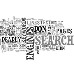 The deadly sins guaranteed to get your website vector