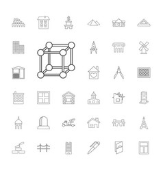 33 architecture icons vector