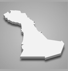 3d isometric map eastern province is a region vector