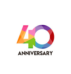 40 year anniversary simple template design vector