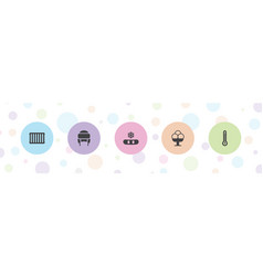 5 cold icons vector