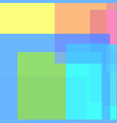 Abstract multicolored rectangles and squares vector
