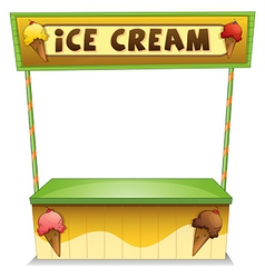 An ice cream stand vector image