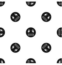 angry emotpattern seamless black vector image
